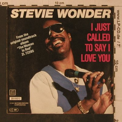 Wonder,Stevie: I Just Called To Say I Love You, Motown(ZB 69213), D, 1984 - 7inch - T4850 - 2,50 Euro