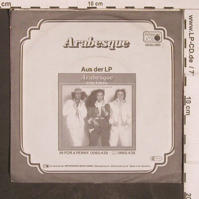 Arabesque: In For A Penny / I Don't Wanna..., Metronome(0030.390), D, vg+/m-, 1981 - 7inch - T5160 - 3,00 Euro