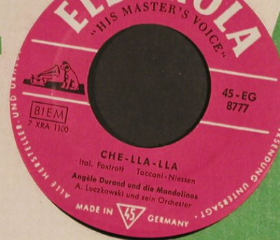 Durand,Angèle / Paul Kuhn-nsemble: Melodie D'Amour/Che-lla-lla, FLC, Electrola(45-EG 8777), D,  - 7inch - S8460 - 3,00 Euro