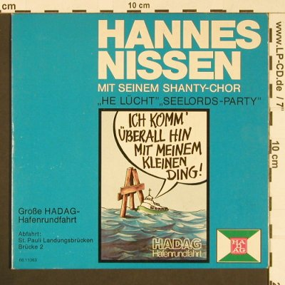 Nissen,Hannes: He Lücht,Seelordparty, signiert, HADAG(66.11063), D,  - 7inch - S8844 - 4,00 Euro