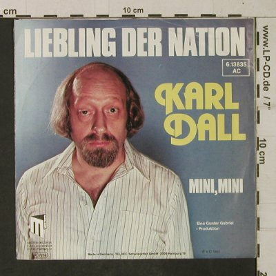 Dall,Karl: Liebling der Nation, m-/vg+, Master Records(6.13835 AC), D, 1983 - 7inch - T1958 - 3,00 Euro