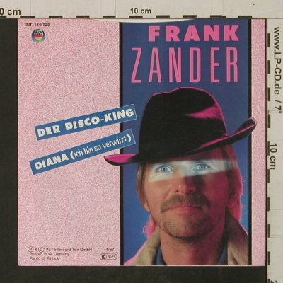 Zander,Frank: Der Disco-King, Blow Up(110.728), D, 1987 - 7inch - T2655 - 2,50 Euro