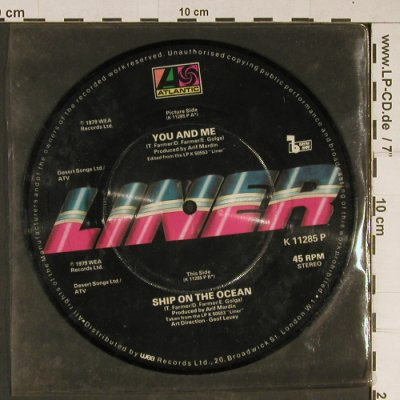 "Liner: You and Me+Ship on the Ocean,vg+, Atlantic(K 11285 P), UK, 1979 - P7"" - T877 - 2,00 Euro"