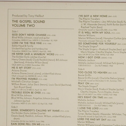 V.A.Gospel Sound: Vol.2, CBS(M 67280), NL, 72 - 2LP - A3434 - 7,50 Euro