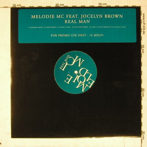 Melodic MC feat.J.Brown: Real Man*6,Promo, Virgin(12 MELP 1), EU, 97 - 12inch - A4390 - 5,00 Euro