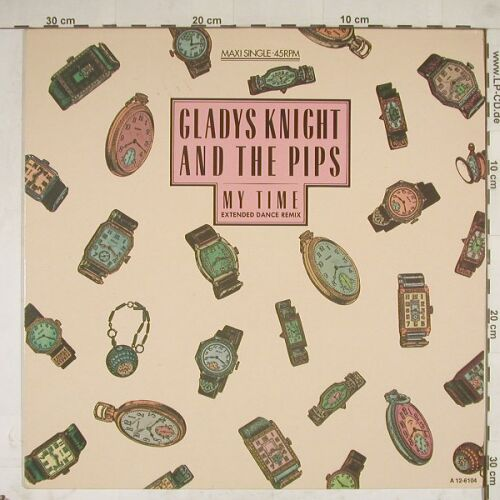 Knight,Gladys & The Pips: My Time, ext dance rmx, CBS(A 12-6104), NL, 85 - 12inch - A8698 - 2,50 Euro