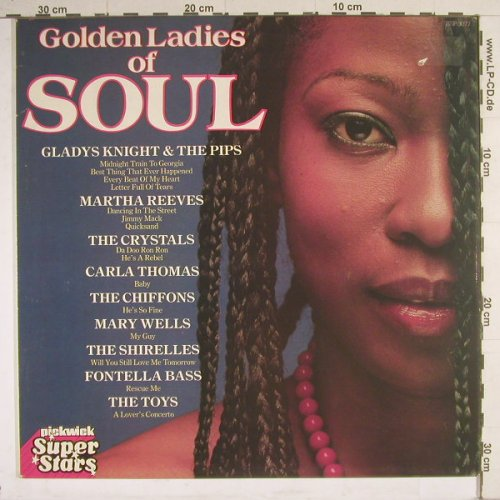 V.A.Golden Ladies Of Soul: 15 Tr., Pickwick(SSP 3077), UK, 80 - LP - B4207 - 4,00 Euro