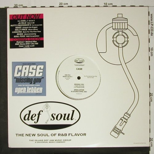 Case: Missing You*4,Flc,Promo, DefSoul(DEFR 15174-1), US, 00 - 12inch - B8743 - 4,00 Euro