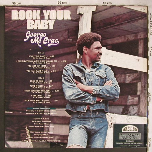 Mc Crae,George: Rock Your Baby, Jay Boy(JSL 3), UK, 1974 - LP - C1122 - 5,00 Euro