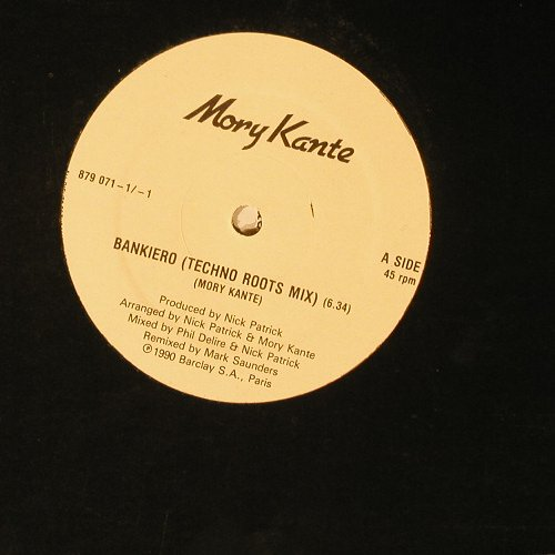 Kante,Mory: Bankiero(Techno Roots Mix)+2, Barclay(879 071), , 90 - 12inch - C432 - 3,00 Euro