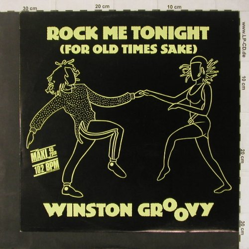 Winston Groovy: Rock Me Tonight*2+1,orange Vinyl, Jive(6.20485 AE), D, 1986 - 12inch - C4403 - 4,00 Euro