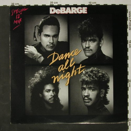 Debarge: Dance All Night *5, sp.mix, Striped Horse(6.20782 AE), D, 1987 - 12inch - C8142 - 1,50 Euro