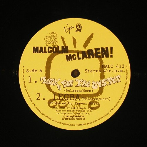 Mc Laren,Malcolm: Duck For The Oyster+2, Virgin(MALC 412), UK, 1983 - 12inch - C8793 - 4,00 Euro