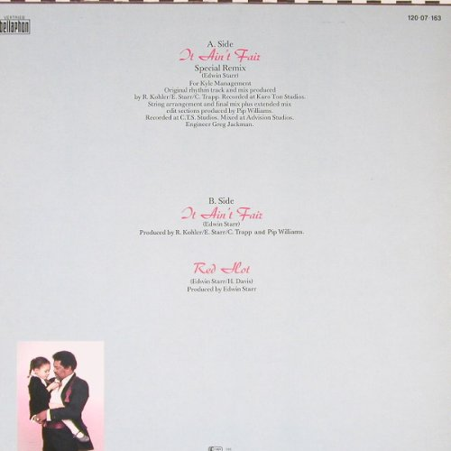Starr,Edwin: It Ain't Fair (sp.rmx)+2, Bellaph.(120 07 163), D, 1985 - 12inch - C8795 - 4,00 Euro