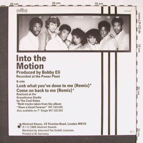 Cool Notes ,the: Into The Motion, Abstract(INT 125.241), D, 1986 - 12inch - C9008 - 2,50 Euro