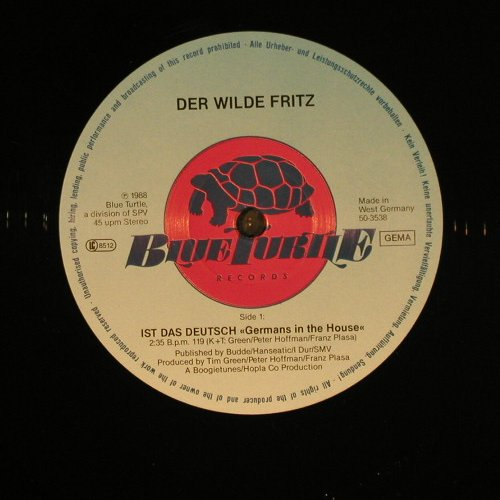 Der Wilde Fritz: Ist Das Deutsch *2+1 - mix, Blue Turtle(50-3538), D, 1988 - 12inch - C9515 - 4,00 Euro