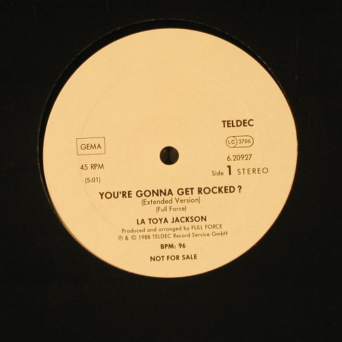 Jackson,La Toya: You're Gonna Get Rocked?,Promo, Teldec(6.20927), D, 1988 - 12inch - C9648 - 5,00 Euro