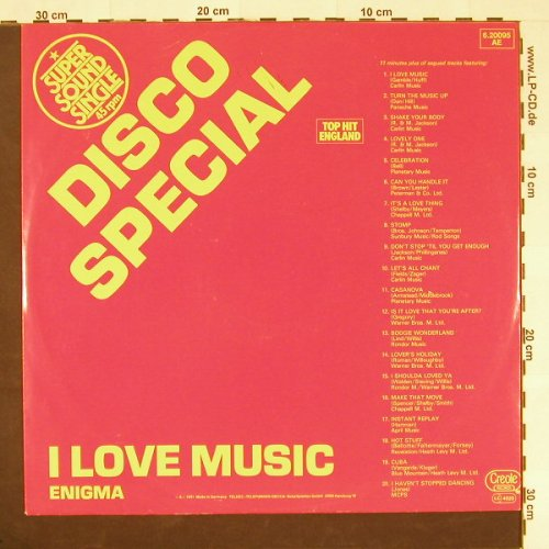 Enigma: I Love Music, Creole(6.20 095), D, 1981 - 12inch - C9652 - 6,00 Euro