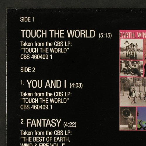 Earth,Wind & Fire: Touch The World, sp.3Track, CBS(653048 6), NL, 1987 - 12inch - C9799 - 3,00 Euro