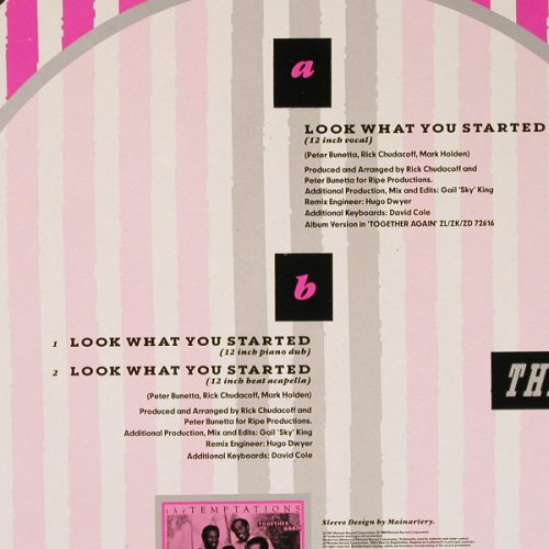 Temptations: Look What You Started*3, Motown(ZT 41734), D, 1987 - 12inch - E1213 - 2,50 Euro