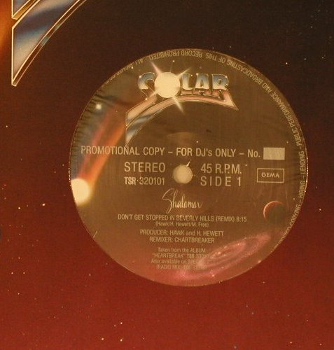 Shalamar: Don't Get Stopped In Beverly Hills, Solar(TSR 320101), DJ-Pro,FLC,  - 12inch - E1305 - 4,00 Euro