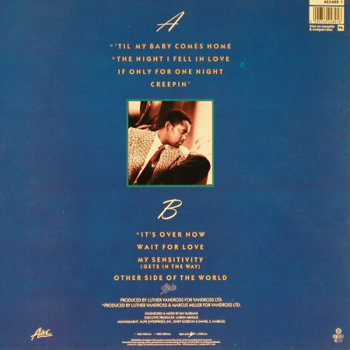Vandross,Luther: The Night I Fell In Love, Epic(462489-1), UK, 1985 - LP - E1386 - 5,00 Euro