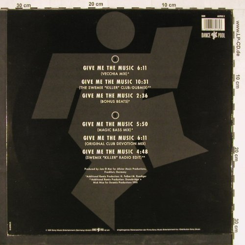 B.G. The Prince Of Rap: Give Me The Music, DancePool(6574413 5), NL, 1991 - 12inch - E2206 - 2,50 Euro