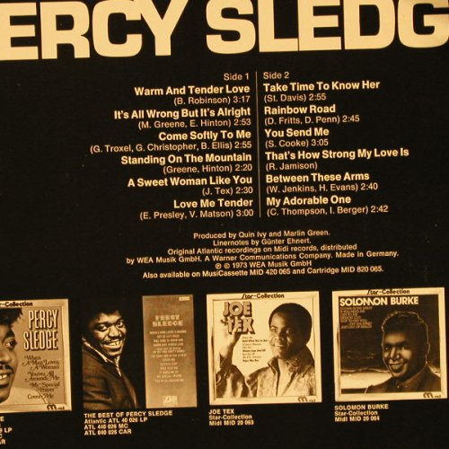 Sledge,Percy: Star-Collection Vol.2, Midi(20 065), D, 1973 - LP - E2605 - 5,00 Euro