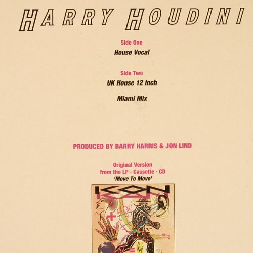 Kon Kan: Harry Houdini*3, Atlantic(786 398-0), D, 1989 - 12inch - E3587 - 4,00 Euro