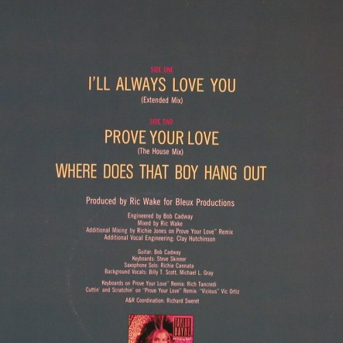 Dayne,Taylor: I'll Always Love You+2, Arista(611 536), D, 1988 - 12inch - E367 - 2,50 Euro