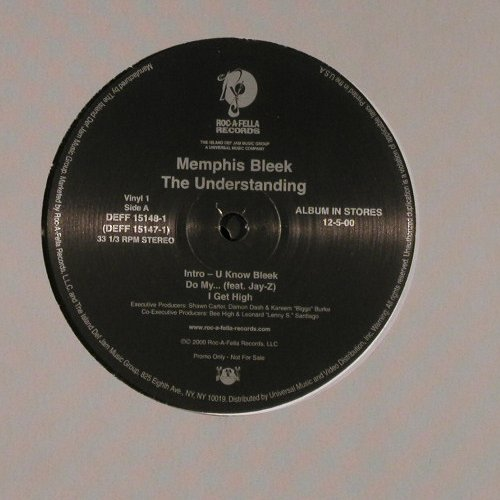 Memphis Bleek: The Understanding,Promo,FLC, Roc-A-Fell(DEFF 15148-1), US, 2000 - 2LP - E3782 - 7,50 Euro