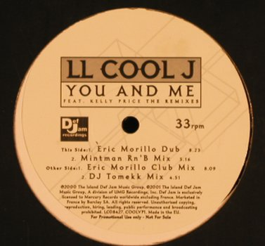 L.L.Cool J: You And Me*4,Promo, f.Kelly Price, Def Jam(COOLVP1), EU, 2000 - 12inch - E3787 - 5,00 Euro