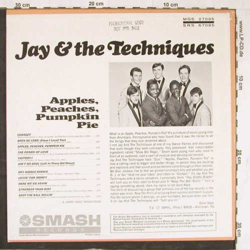 Jay & The Techniques: Apples,Peaches,Pumpkin Pie, Smash(SRS 67095), US,  - LP - E4378 - 15,00 Euro