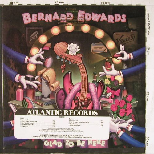 Edwards,Bernard: Glad To Be Here, Promo, Atlantic(7 80079-1), D, 1983 - LP - E4652 - 5,00 Euro