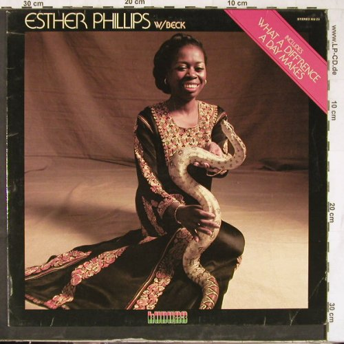 Phillips,Esther - W/Beck: What a Diff'rence a day Make, CTI(KU 23), D,vg+/vg+, 1975 - LP - E4824 - 5,00 Euro