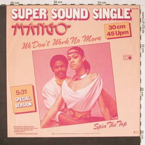 Mango: We Don't Work No More+1, Metronome(0930.060), D, 1982 - 12inch - E539 - 3,00 Euro