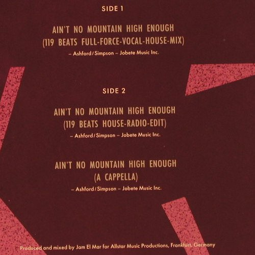 Paris Red: Ain't No Mountain High Enough *3, DancePool(657866 9), NL, 1992 - 12inch - E540 - 3,00 Euro