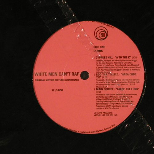 White Men can't Rap - OST: Cypress Hill, Gang Starr.., FS-New, EMI(EI-99087), US, LC, 1992 - 12inch - E6157 - 9,00 Euro