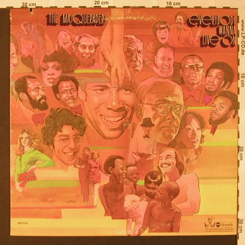 Masqueraders: Everybody Wanna Live On, ABC(ABCD-921), US, Co, 1975 - LP - E8378 - 9,00 Euro