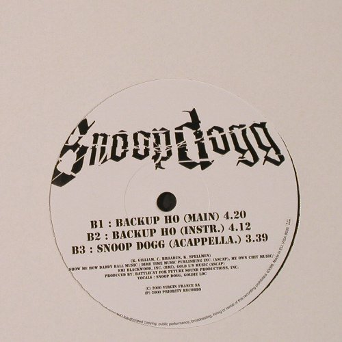 Snoop Dogg: Snoop Dog*4+2,LC, Priority(), EU, 2000 - 12inch - E9845 - 4,00 Euro