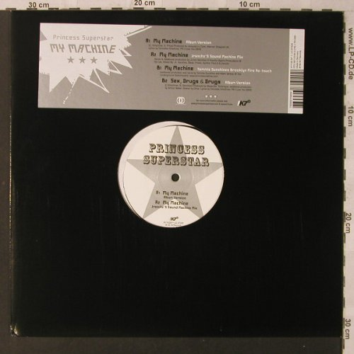 Princess Superstar: My Machine/Sex,Drugs&Drugs, K7(7192EP), D,  - 12inch - F2236 - 4,00 Euro