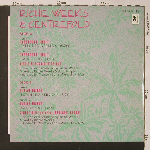 Weeks,Richie & Centrefold: Forbidden Fruit*2+2, Streetwave(MKHAN 42), UK, 1985 - 12inch - F3012 - 4,00 Euro