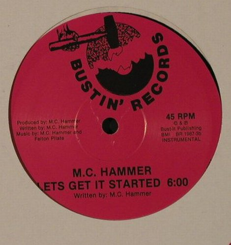 M.C.Hammer: Let's Get It Started*2, FLC, Bustin'Records(BR 1987-3), US, 1987 - 12inch - F3024 - 4,00 Euro