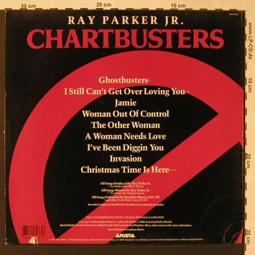 Parker Jr.,Ray: Chartbusters, co, m-/vg+, Arista(AL8-8266), US, 1984 - LP - F3031 - 3,00 Euro