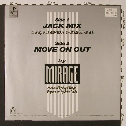Mirage: Jack Mix+1, BCM(B.C.12-2009-40), D,  - 12inch - F3058 - 3,00 Euro