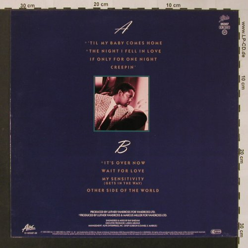 Vandross,Luther: The Night I Fell In Love, Epic(EPC 26387), NL, 1985 - LP - F3151 - 4,00 Euro
