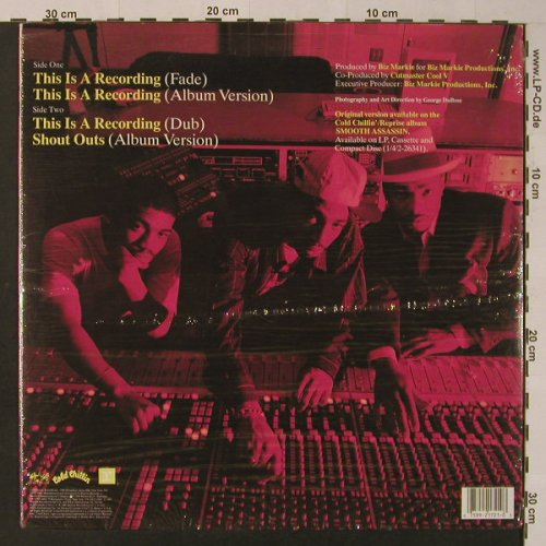 Grand Daddy I.U.: This is a Recording*3+1, Cold Chillin(), US, 1990 - 12inch - F4476 - 5,00 Euro