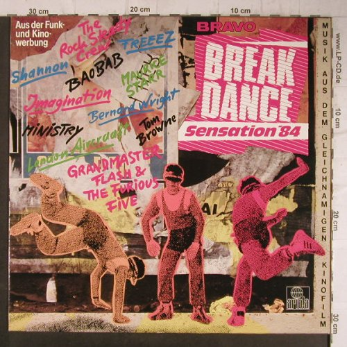 V.A.Break Dance Sensation'84: Rock Steady Crew...Bernard Wright, Ariola(205 999-500), D, 14 Tr., 1984 - LP - F8027 - 6,00 Euro
