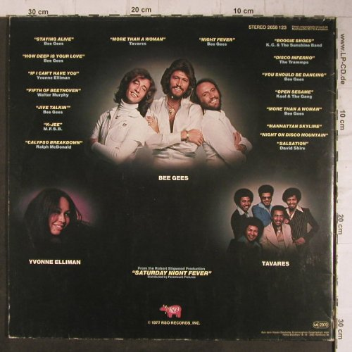 V.A.Saturday Nightfever: Original Soundtrack, Foc, RSO(2658 123), D, 1977 - 2LP - F8111 - 7,50 Euro