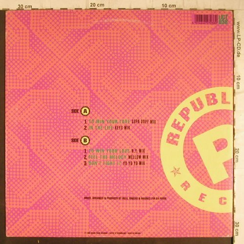 DA Posse: To win your love*2+3, vg+/m-, RoughTrade(LICT 038), UK, 1990 - 12inch - F8734 - 4,00 Euro